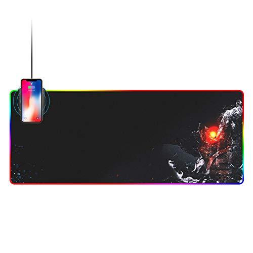 LanLan Alfombrilla ratón Carga inalámbrica RGB Grande