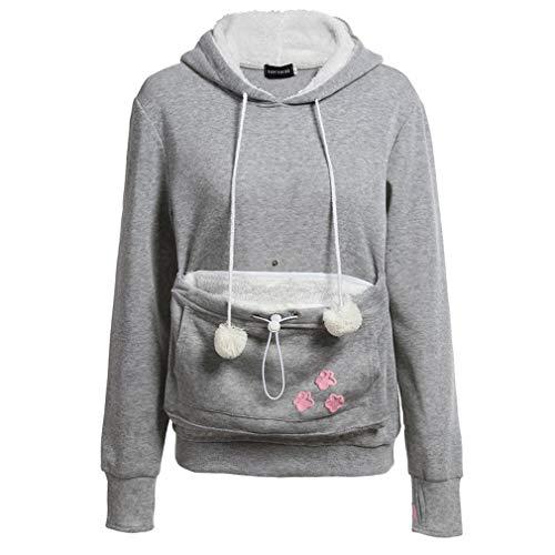 FDBF Cartoon Women Hoodie Cat Kangaroo Dog Hoodie Long Sleeve Hooded Sweatshirt Hooded Womens Sweatshirt
