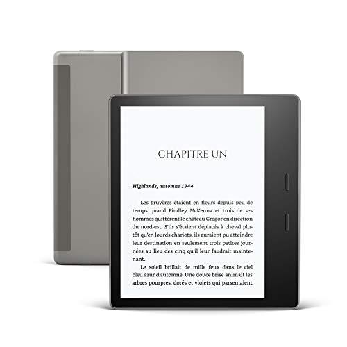 Kindle Oasis, Maintenant avec température d'éclairage ajustable, Résistant à l'eau, 32 Go, 4G gratuite + Wi-Fi, Graphite