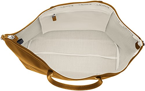 Lacoste Damen L1212 Concept Umhängetaschen, 14 x 30 x 35 cm Marron (Golden Brown)