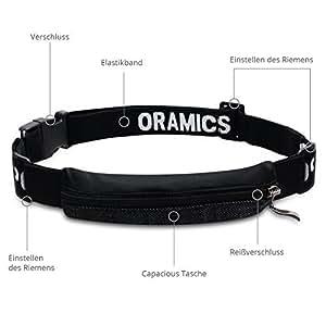 Oramics Sport - Extrem elastische Bauchtasche - Ideales Sport-Accessoire zum Verstauen solcher Gegenstände wie Handy, Schlüssel, Pfefferspray, MP3-Player usw.