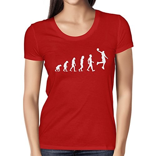 NERDO Basketball Evolution - Damen T-Shirt Rot