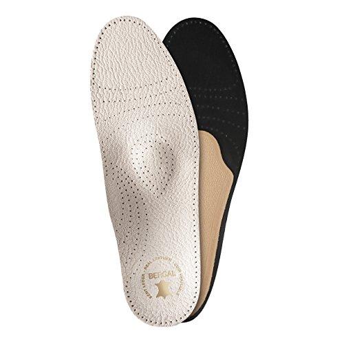 Bergal Soft Luxus - Einlegesohlen, Fussbett mit echtem Leder