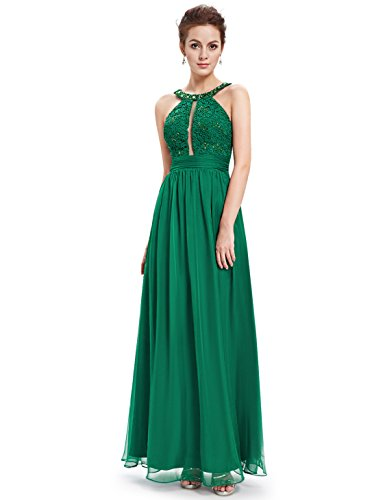 Ever Pretty Robe de cocktail Longue et ¨¤ spaghetti 08572 Vert