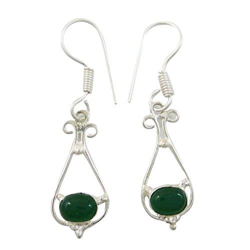 Mode Indien De Couleur Verte Dangle Boucles D'Oreilles Cadeau De Bijoux Traditonal Pour Elle vert-1