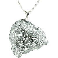 Collar de pirita de hierro Plata de Ley 925 | Regalos de San Valentín para ella | Envío gratis
