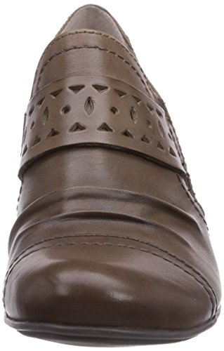 Jana 24320 Damen Kurzschaft Stiefel Braun (Pepper)