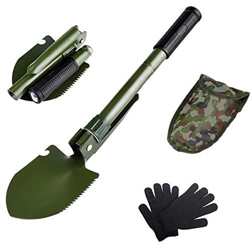 AKKlenz klappspaten Mini, Multifunktionale Tragbare Militär-Klappschaufel Mini klappspaten Tasche Ideal für Gartenarbeit, Camping, Outdoor und Survival