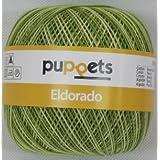 50g Puppets eldorado - Farbe: 82 - grün meliert - Häkelgarn Stärke 10