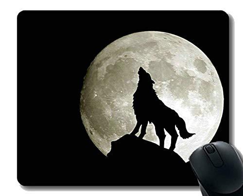 Mauspad Rutschfeste Naturkautschuk-Rechteck-Mauspads, Tierwolf Mousepad Rutschfeste Gummiunterlage