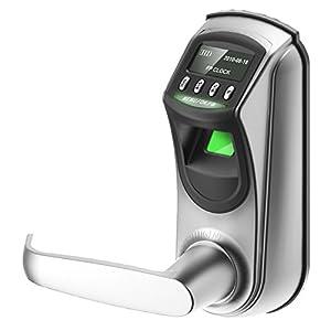 ZKTeco L7000U Electronic Deadbolt Digital Smart Door Lock, Code Fingerprint - LED Touchscreen Keypad, Easy to Install, Keyless Access for Home