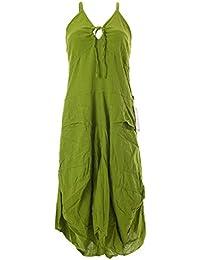 Vishes - Alternative Bekleidung - Lagenlook Ballonkleid mit verstellbaren Trägern – Baumwolle