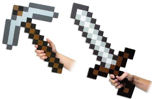 Minecraft Set Schwert & Spitzhacke Witzige Replike
