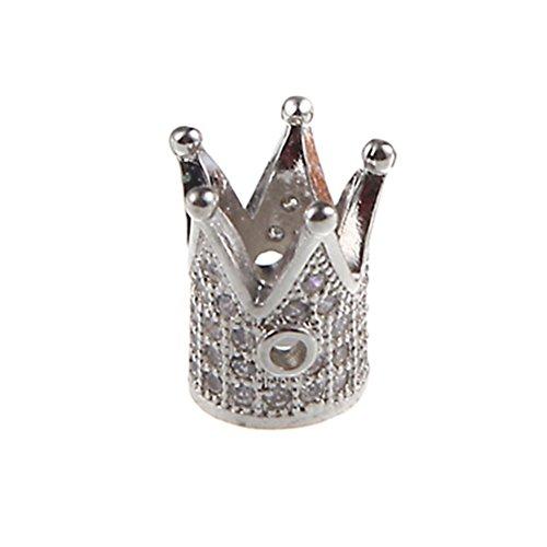 BESTOYARD Krone Diamante Necklack Zubehör DIY Handwerk Anhänger für Schmuck Handwerk machen (weiß)