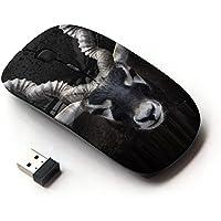 KOOLmouse [ Mouse Senza Fili Ottico 2.4G ] [ Impala Horns Black Nature Minimalist ] - Impala Horn