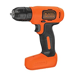 BLACK+DECKER BDCD8-GB Lithium-Ion Compact Cordless Drill, 7.2 V, Black