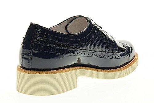NERO GIARDINI scarpe donna inglesine con frange P717072D/208 Blu
