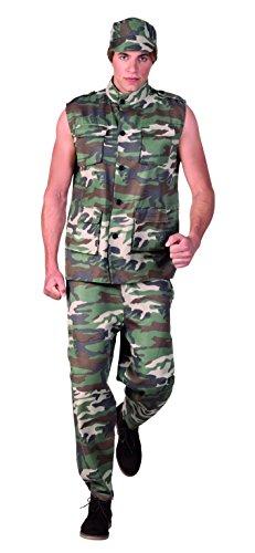 Boland 83588 - Herrenkostüm Army - Halloween Army Männer