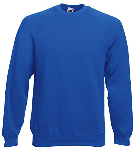 Fruit of the Loom Herren Sweatshirt Raglan Royal