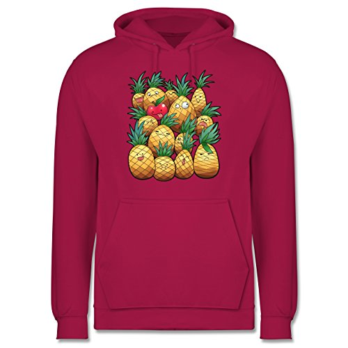 Comic Shirts - Süße Ananas Party - Männer Premium Kapuzenpullover / Hoodie Fuchsia