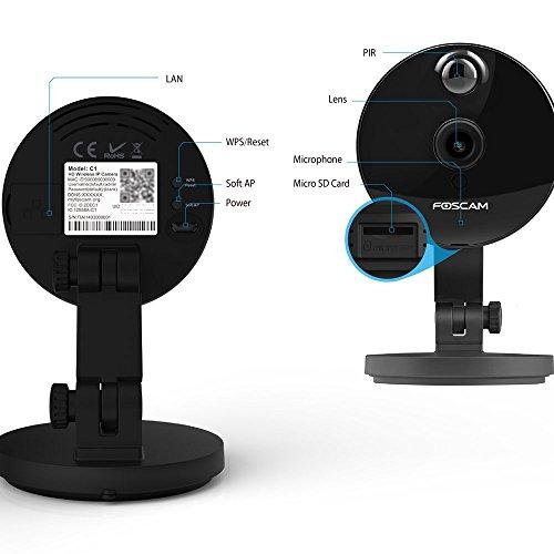Foscam C1 HD 720P Funk-Plug-and-Play IP WLAN Kamera / Überwachungskamera mit IR Nachtsicht - 6