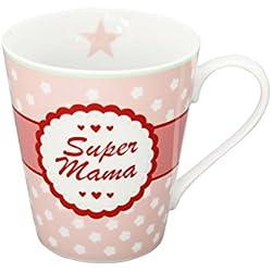 Krasilnikoff Becher mit Henkel Super Mama