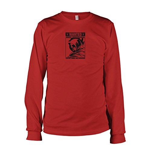 TEXLAB - Wanted Arrow - Langarm T-Shirt, Herren, Größe XXL, rot (Roter Pfeil Dc Kostüm)