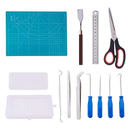 BENECREAT 13 Stück Craft Vinyl Jäten Tools Edelstahl Precision Craft Jäten Tools Set für Schriftzug Silhouette und Cameo (Craft-schriftzug)