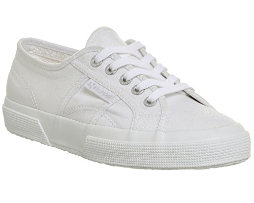 Superga 2750 Cotu Classic, Sneakers Unisex - Adulto White Sparkle Exclusive