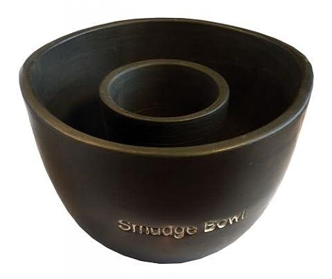 """Räuchergefäß """"Smudge-Bowl"""" gross Keramik schwarz"""