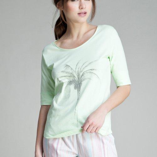 women'secret - Camiseta de manga larga en algodón Verde