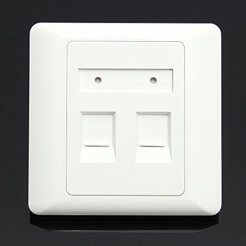 GOZAR Rj45 Cat6 Wand-Flache Gesichtsplatten-Ethernet-Netz-Sockel-Platte Mit 2 Häfen