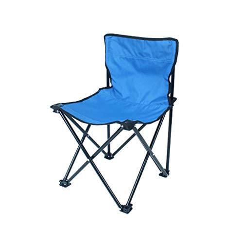 WANG Chaise de Pliage extérieure Portable Chaise de pêche Simple Banc de Plage Directeur Chaise Camping Barbecue Chaise à Quatre Coins 4 Choix de Couleur (Couleur : Bleu)