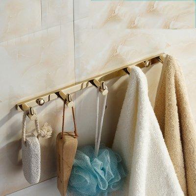 leiste Kleiderhaken Garderobehaken Wandgarderobe Wandhaken für Kücher Bad Messing ()