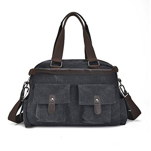 Mefly Single Schulter Tasche Baumwolle Canvas Tasche black