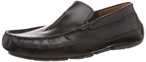 Clarks Herren Ashmont Race Mokassin Schwarz (Black Leather)