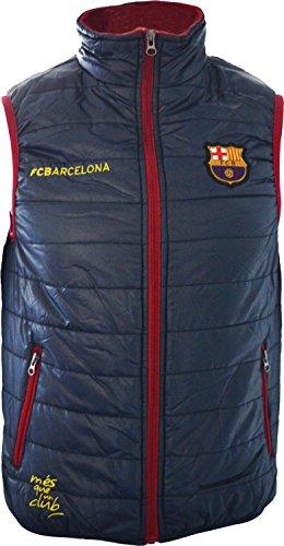 Piumino senza manico FC Barcelona-Collezione ufficiale FC Barcellona-Taglia Bambino, Ragazzo, Bleu marine, 12A