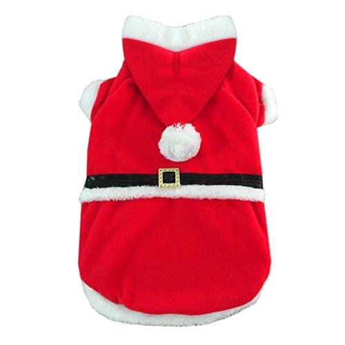 smalllee _ Lucky _ store Hund Weihnachtskostüm Santa Claus Anzug Fleece Medium Großer Hund Kleidung (Mrs Claus Anzüge)