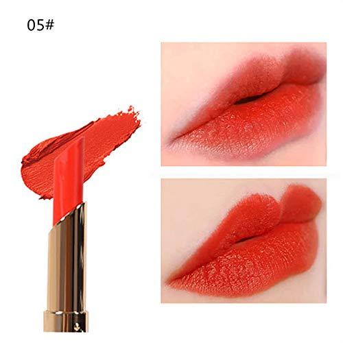 Tagether Bohnenpaste Lippenstift, Matt Samt Kürbis Kürbisfarbe Lippen Enhancer Vergrößerer Sperren Sie das Öl das befeuchtet Extrem Feuchtigkeitsspendend,Natürliche Lip Gloss Lipgloss, Nearly Dusk