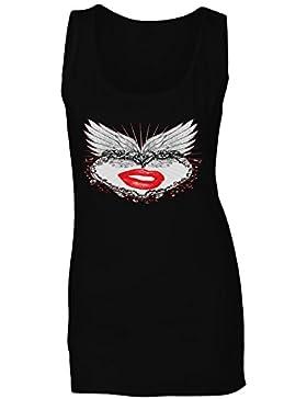 Arte precioso del vintage de la novedad del corazón camiseta sin mangas mujer oo77ft