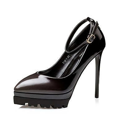 Moda Donna Sandali Sexy donna tacchi tacchi caduta / Punta Dress Stiletto Heel fibbia nero / rosa / rosso / a piedi Borgogna fuchsia