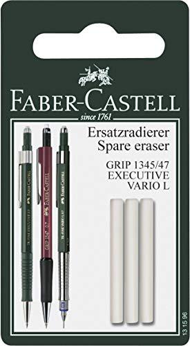 Faber-Castell 131596 - Ersatzradierer für Druckbleistift Grip 1345/1347, 3 Stück (Faber Castell Radierer Tk)