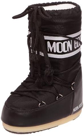 Tecnica Moon Boot Nylon Nero, Unisex-Kinder Outdoor SchneeStiefel, Black (Schwarz) (Nero), 42-44 EU