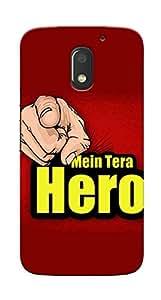 Kaira High Quality Printed Designer Back Case Cover For Motorola Moto E3 Power(hero)