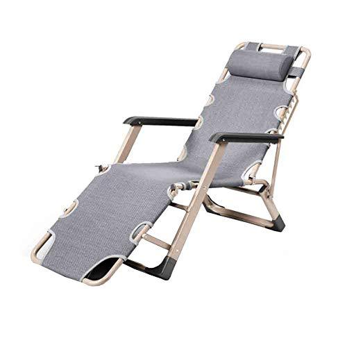 YCSD Klappliege Sonnenliege Relax Nickerchen Bürostuhl Einzelbett, automatische Multi-Positionseinstellung (Farbe : 1)