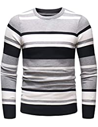 8223b1b3ca53 BaZhaHei Herren Strickpullover Feinstrick Pullover Herbst Winter Schlank Pullover  Strickwaren Outwear Bluse Slim Fit Freizeit Reisen Warm…