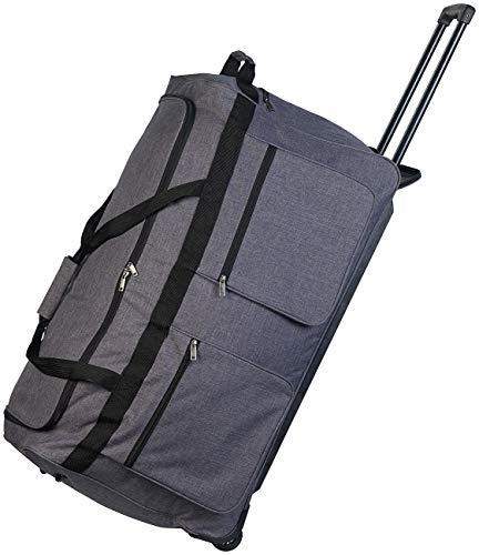 Xcase Reisekoffer: Faltbare XXL-Reisetasche mit Trolley-Funktion & Teleskop-Griff, 160 l (Reisetrolley)
