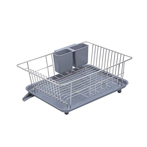 O&YQ Küchenablage aus Edelstahl mit Utensilienhalter und Tropfschale, über Dem Spülbecken Abtropfgestell mit Drehbarem Auslauf, Rostfrei und Langlebig -