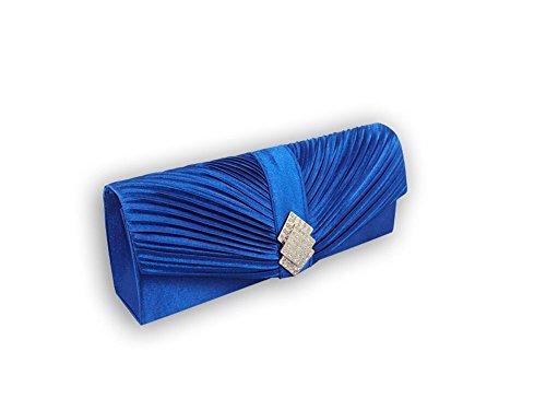 XPGG-Borsa da donna, per abiti da sera, da donna, regalo ideale per frizione Nero (blu)
