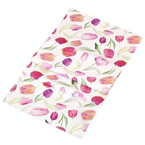 SIDCO Tischläufer Tulpe Ostern Frühling Tischdecke Tischband Läufer Blumen 40x140 cm